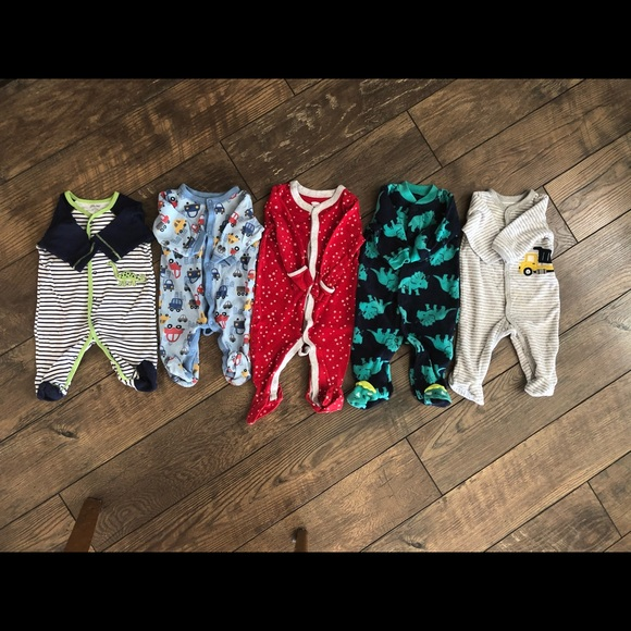 Carter's Other - 3 Months Size Baby Boy Sleeper Footies
